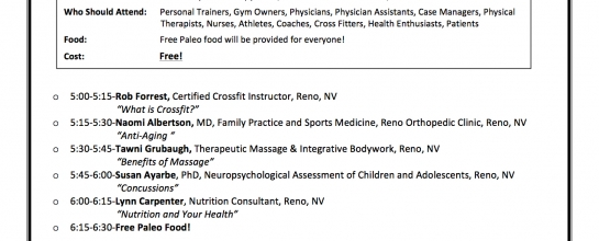Physical Therapy Reno Flyer